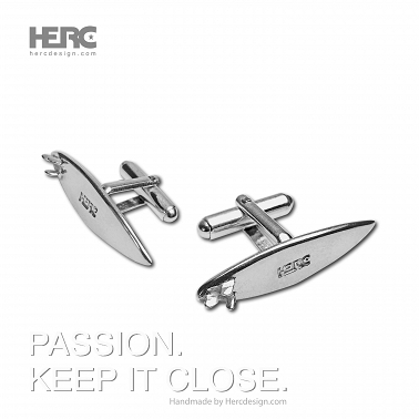 Surfing cufflinks