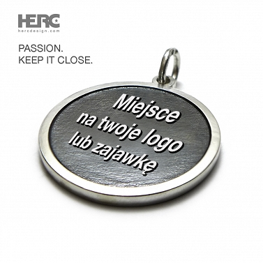 Pendant with your engraving, logo, teaser