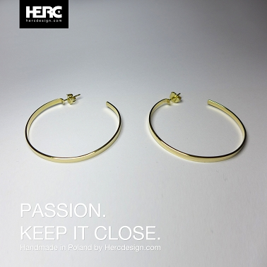 14k gold hoop earrings (585)