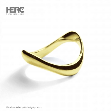 Gold ring without a stone 14k ring ocean, sea, water